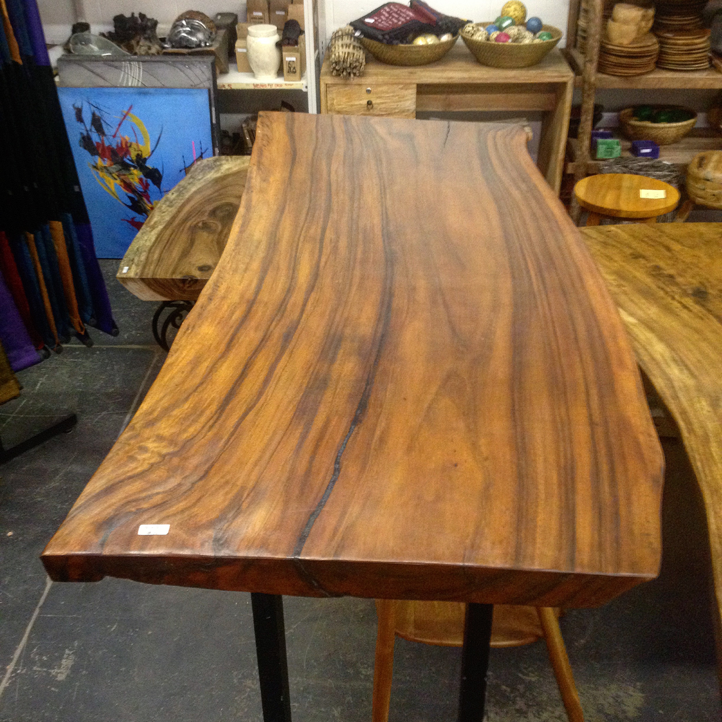 ecfb59c2a98e Home   Live Edge Tables   Suar Live Edge Table Top  23